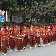 Parade of ethnic groups in Luang Prabang