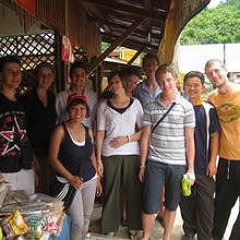 Group of local students, 1 week in Ban Houey Sen