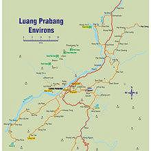 MAP : Luang Prabang environs, from Kuang Si to Pak Ou Caves