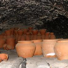 Traditional underground pottery cooler cave