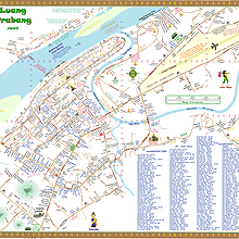 MAP : Centre-town of Luang Prabang, by Hobomap