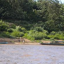 Muang Ngoi area, on the bank of the Nam Ou river, the fishermen