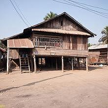 A typical local house in Ban Hat Hien