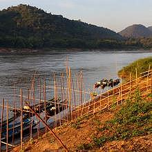 Afternoon time in Luang Prabang, on the bank of the Mekong River