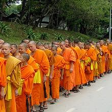 Procession for a great monk death celebration