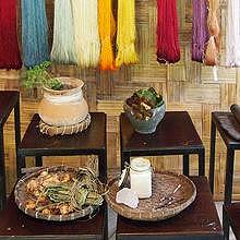 Natural dye exhibition at Ock Pop Tok