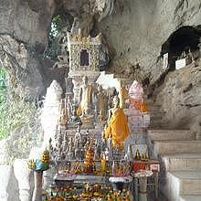 Pak Ou Caves, a sacred living religious Buddhist place