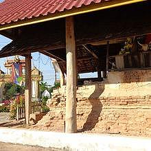 The temple before the work starts