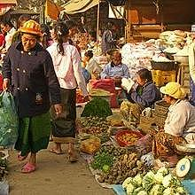 The Phosi Market, in Luang Prabang