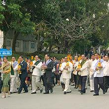 Ceremony parade in Luang Prabang