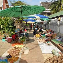 The morning market in Luang Prabang