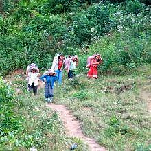 First day Trekking in Northern Laos