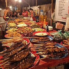 The Caterer's Evening Market in Luang Prabang
