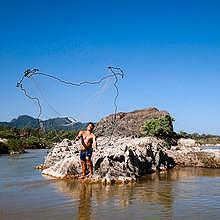 Southern-laos Mekong, the land of fishermen