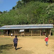 A typical school in the remote villages like in Atsapeui