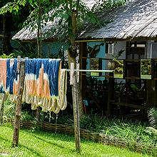 Weaving and dyeing in Luang Prabang