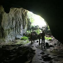 Caves behind Muang Ngoi, on the way to the villages of Ban Na, Bat Houay Sen