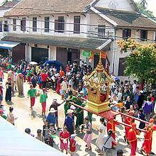 The Phrabang, during the Lao New Year