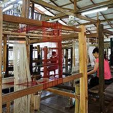 Weaving show and practice room at Ock Pop Tok