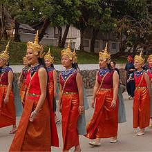 Ethnic group during the parade, in Luang Prabang