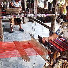 Traditional weaving in Ban Xang Khong and Ban Phanom