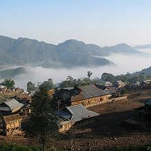 Village in Northern Laos
