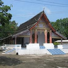 Typical Luang Prabang temple architecture