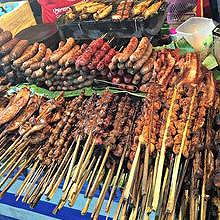 BBQ in Luang Prabang at the Street Food Night Market