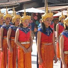 Parade for 10th anniversary of Luang Prabang UESCO recognition