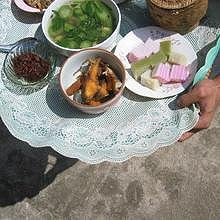 Special meals to be offered to the monks during Ancestor's day in Laos