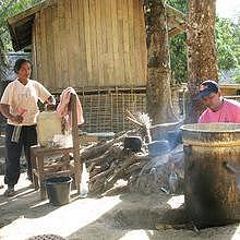 Local production of laolao, in Ban Houey Sen