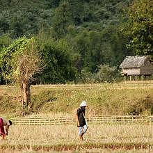 Northern-Laos countryside, in Muang La area