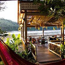 Restaurant at Ock Pop Tok, on the bank of the Mekong River