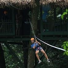 Zipline at Namkat Yorla Pa Resort in Oudomxay