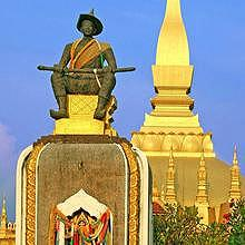 Statue of King Setthathirat (1534-1571) in That Luang
