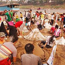 Pimay, Lao new year in Luang Prabang on the 14th April