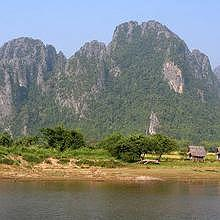View of the Karst Mountains of Vang Vieng