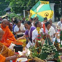 Village blessing ceremony in Luang Prabang