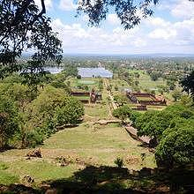 Magnificent view at Vat Phou